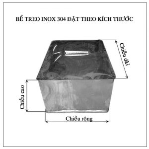 Bể vuông treo inox