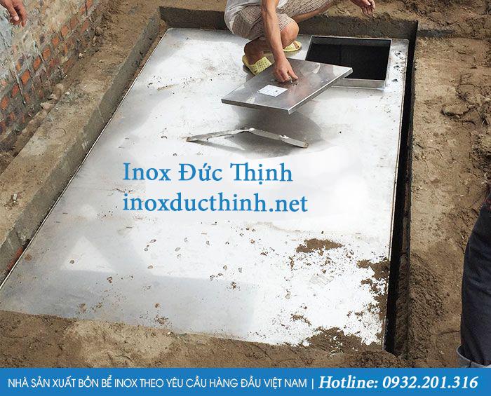 Bể nước ngầm Inox được thiết kế theo yêu cầu